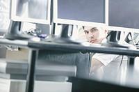 Computer technician, portrait.