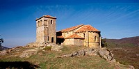 Romanesque church, Castrillo de Valdelomar. Cantabria, Spain