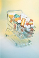 Prescription medicines in shopping cart