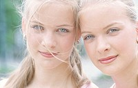 Portrait of Two Young Women Outdoors (thumbnail)