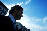 Young professional man looking sideway (thumbnail)