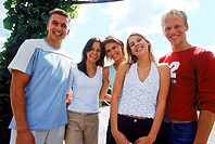 Portrait of a group of young people smiling (thumbnail)