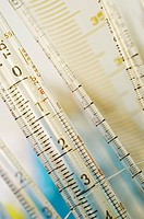 Close-up of pipettes