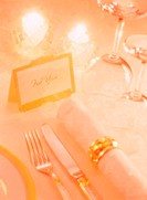 Close Up of Place Setting with Gift Card