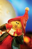 Close-up of a Christmas figurine