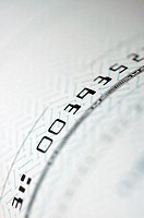 Close-up of numbers on a check