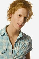 fashion image of young man