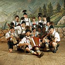 Group of bavarian musicians