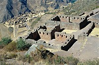 Inca ruins of Pisac. Urubamba Valley, Peru