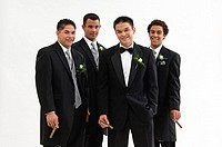 Groom with wedding party