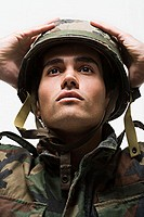 Portrait of young male soldier (thumbnail)