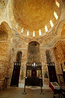 The dome of Agia Sophia church (1150). Monenvassia medieval town, Laconia, Peloponnese, Greece