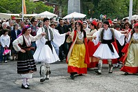 Traditional dancing and costume, Tripolis, Arcadia, Peloponnese. Greece