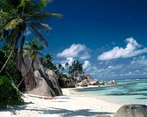Reunion beach, La Digue island, Seychelles