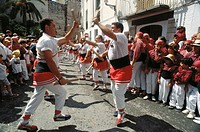 Ball de Bastons (Dance of Sticks). Sant Bartomeu festival. Sitges, Barcelona province, Spain