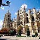 Puerta del Obispo. Gothic cathedral of Santa María de Regla. León. Spain