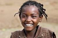 Ari tribe young girl. Key Afer market. Ethiopia