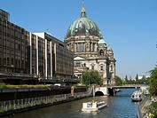 Cathedral and Spree river. Berlin , Germany