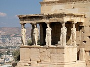 Caryatids. Erechteion Temple, Acropolis, Athens, Greece