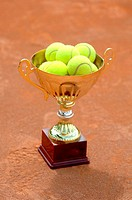 Trophy with Tennis Balls