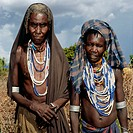 Old women. Gala tribe. Ethiopia