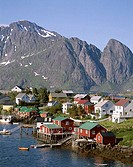 Town View, Mountains, Reine, Lofoten Islands, Norway