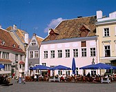 Outdoor Cafes, Old Town, Tallinn, Estonia