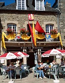 Outdoor Cafe, Main Square, Josselin, Brittany, France