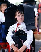 Girl Dressed in Regional Costume wearing Alsatian Headdress, Alsace, France