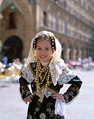 Girl Dressed in Regional Traditional Costume, Salamanca, Castilla y Leon, Spain
