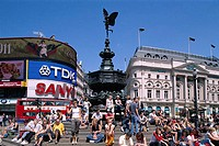 Statue of Eros, Piccadilly Circus, London, England