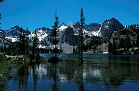 Alice Lake Sawtooth Mountains Stanley, Idaho, USA