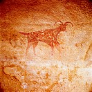 Neolithic paintings. Tassili. Argelia