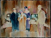 The Ancestors  1988 Margie Livingston Campbell (20th C. American) Watercolor