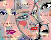 Botox Babes 2003 Diana Ong (b.1940 Chinese-American) Computer graphics