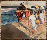 Taking Out the Boat  Joaquin Sorolla y Bastida (1863-1923 Spanish)
