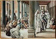 Jesus Walking on Soloman´s Porch James Tissot (1836-1902 French)