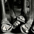 African feet at school. Tanzania