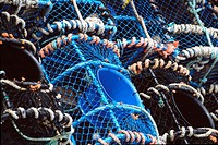 Lobster traps. Chausey Islands. Granville. Manche. Basse-Normandie. France