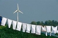 Wind generator and laundry. Holland