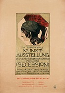 advertising, exhibition, ´Internationale Kunstausstellung des Vereins bildender Künstler (Secession)´, Munich, circa 1890, poster, design by Franz von...