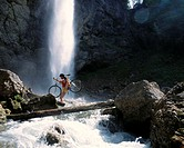 10409289, bicycle, riding a bicycle, biking, riding a bike, bicycle, bike, sport, Appenzell, Creek, brook, cross, woman, Leuen