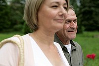 Mature couple in a park