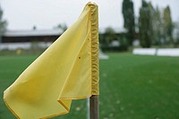 Yellow corner flag