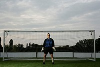 Goalkeeper standing in a goal