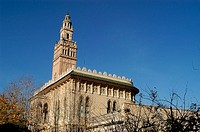 Replica (1898-1906) of La Giralda of Sevilla and the Courtyard of the Lions of the Alhambra of Granada, L´Arboç. Baix Penedès, Tarragona province, Cat...