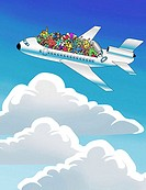 Friendly Skies 2003 Linda Braucht (20th C. American) Computer graphics