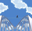 Man on a Tightrope 2004 Linda Braucht (20th C. American) Computer graphics