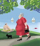 At the Lake 3  2004 Linda Braucht (20th C. American) Computer graphics