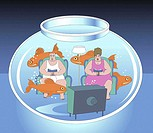 Living in a Fishbowl 2004 Linda Braucht (20th C. American) Computer graphics